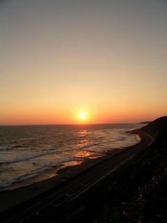 御前崎の夕日