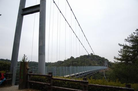 森林公園のつり橋