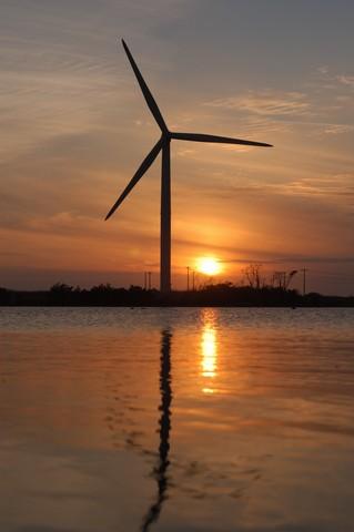 竜洋の夕日