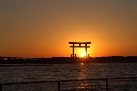 弁天島の夕日
