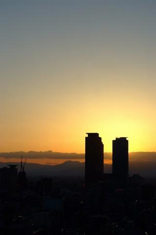 テレビ塔からの夕日