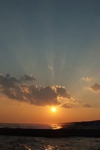 遠州灘の夕日