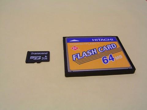 microSDとCF