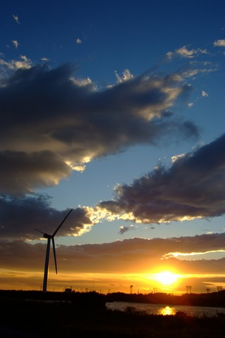 竜洋海洋公園の夕日