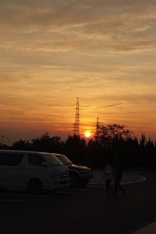 上郷SAの夕日