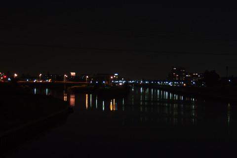 豊公橋からの夜景