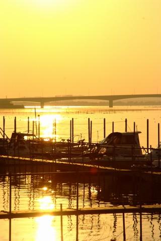 夕日のはまゆう大橋
