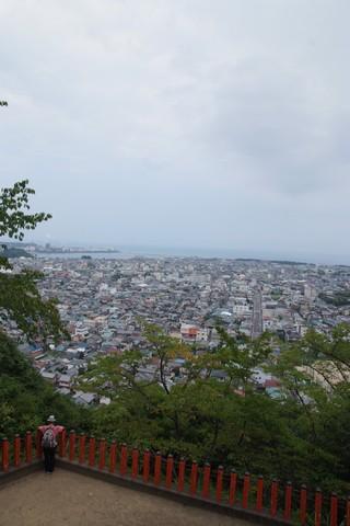 神倉神社から見た新宮市