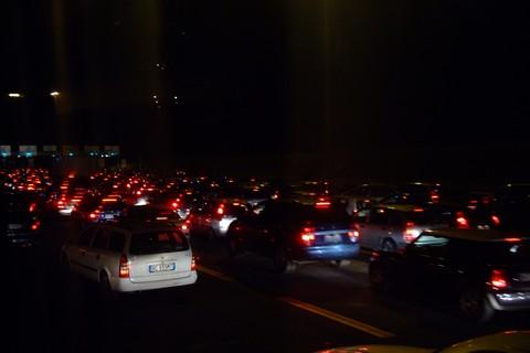 帰り道は大渋滞