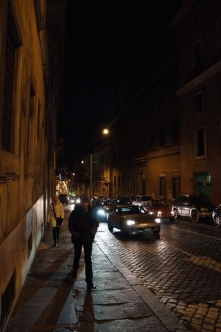 夜のローマ市街