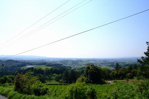 菊川市内を見下ろす