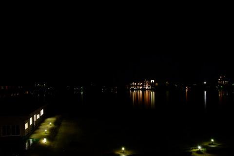 加茂湖の夜景