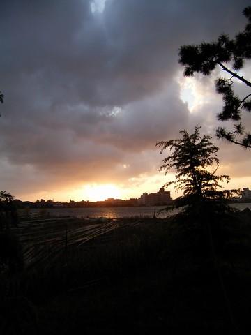 加茂湖の日の出