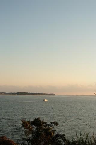 浜名湖SAの夕日