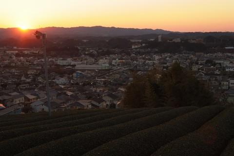 菊川中央公園からの夕日