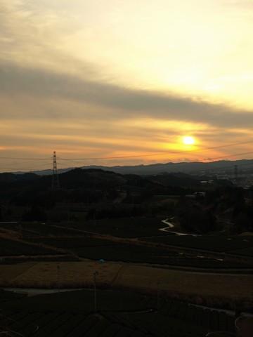 菊川の夕日
