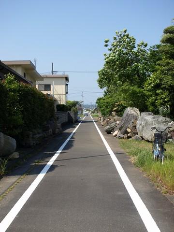 廃線跡のサイクリングロード